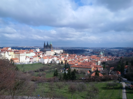 Prague Castle on spring-like day!