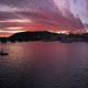 Late Fall Sunset over Prague Castle - Panoramic View