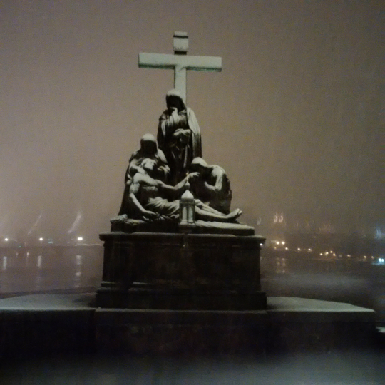 Saint Ludmila on a Winters Snowy Eve on Charles Bridge